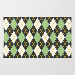 Argyle pattern Rug
