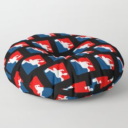 Funny Big Guy Sports Logo Floor Pillow