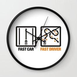 Fast Car - Fast Driver v1 HQvector Wall Clock