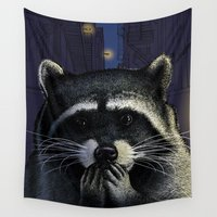 tomb raider Wall Tapestries featuring Urban raider by Carl Conway