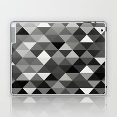 Black And White Triangles - Abstract, geometric, black and white pattern Laptop & iPad Skin