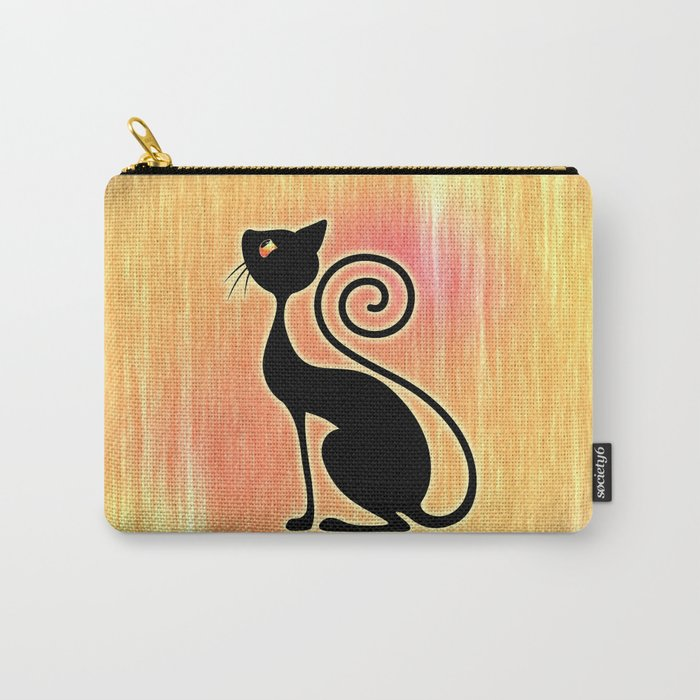 Black Cat Vintage Style Design Carry-All Pouch