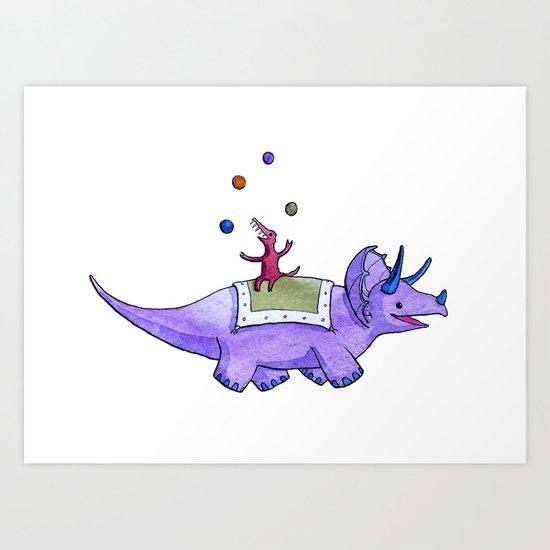 Trick-ceratops! Art Print
