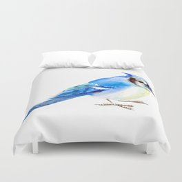 Blue Jay design. blue jay home decor Duvet Cover