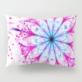 Winter Pink glittered Snowflake Pillow Sham