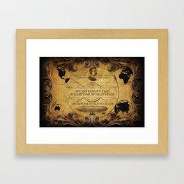 Steampunk World's Fair Interrupt Poster Framed Art Print