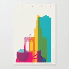 Shapes of Brooklyn. Accurate to scale Canvas Print