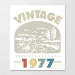Birthday Gift Vintage 1977 Classic Canvas Print