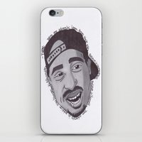 "tupac iPhone & iPod Skins featuring Tupac ''State Of Mind"" by SkilledCreativity"