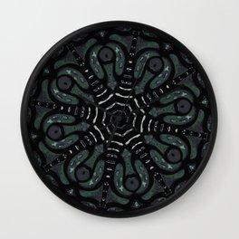 Dark Mandala #4 Wall Clock