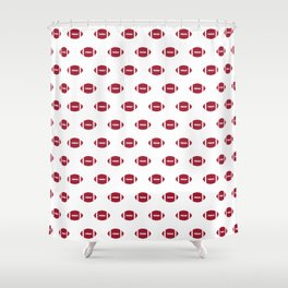 Footballs Bama alabama crimson tide pattern gifts for university of alabama students and alumni Shower Curtain