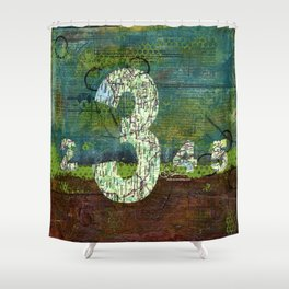 Journey by Number: three comes before four Shower Curtain