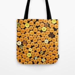 Yellow Buttons Scanograph Tote Bag