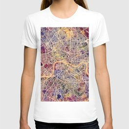 London England Street Map T-shirt