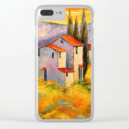 Settlement in the mountains Clear iPhone Case