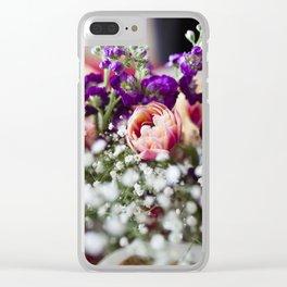 Fresh Flower Lovin' Clear iPhone Case