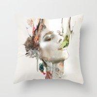 archan nair Throw Pillows featuring Morning Chorus by Archan Nair