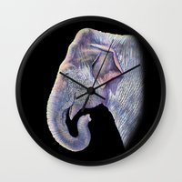 asian Wall Clocks featuring Asian Elephant by Tim Jeffs Art