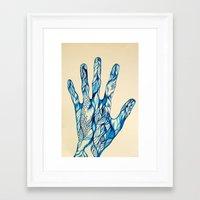 indigo Framed Art Prints featuring Indigo by Nieves