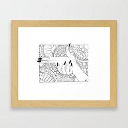 Hands Shoot Mandala Framed Art Print