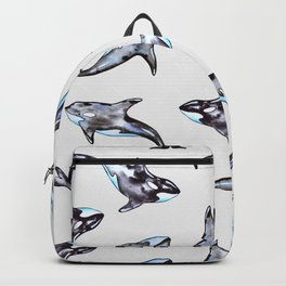 Watercolor killer whales Backpack