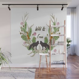 Wild and Free Fall Animals Wall Mural