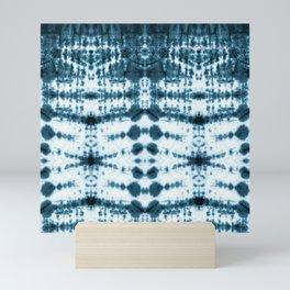Teal Tribe Shibori Mini Art Print