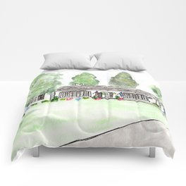 Merrick Rd, Custom watercolor Comforters