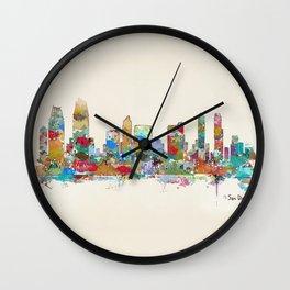 San Diego California skyline Wall Clock
