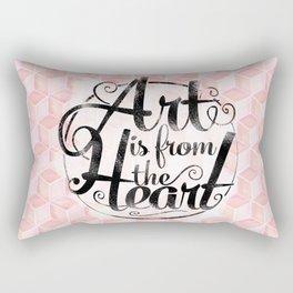 Art Is From The Heart. Rectangular Pillow