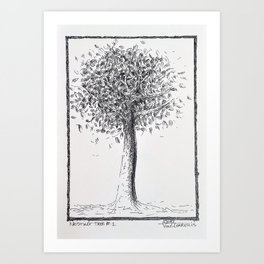 Nesting Tree #1 Pen Drawing Art Print