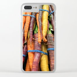Carrot of many colors - Heritage Vegetables bloom! Clear iPhone Case