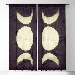 Triple Moon Goddess Blackout Curtain