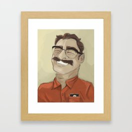 Portrait of Joaquin Phoenix from the movie Her Framed Art Print