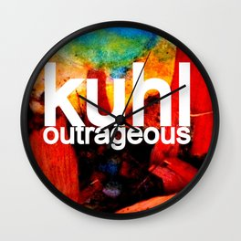 Kuhl's Circus Of Outrageous Album Cover Wall Clock