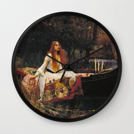 John William Waterhouse - The lady of shalott Wall Clock