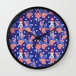 4th July Wall Clock