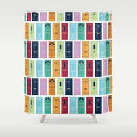 doors Shower Curtains featuring Doors by Luciana Brasil