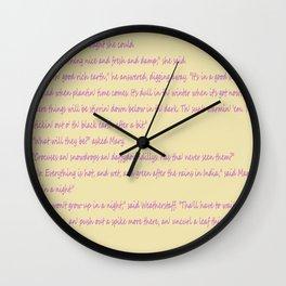 A page: The Secret Garden Wall Clock