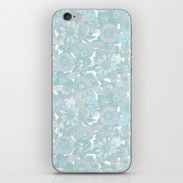 Hellebore lineart florals | bright iPhone Skin