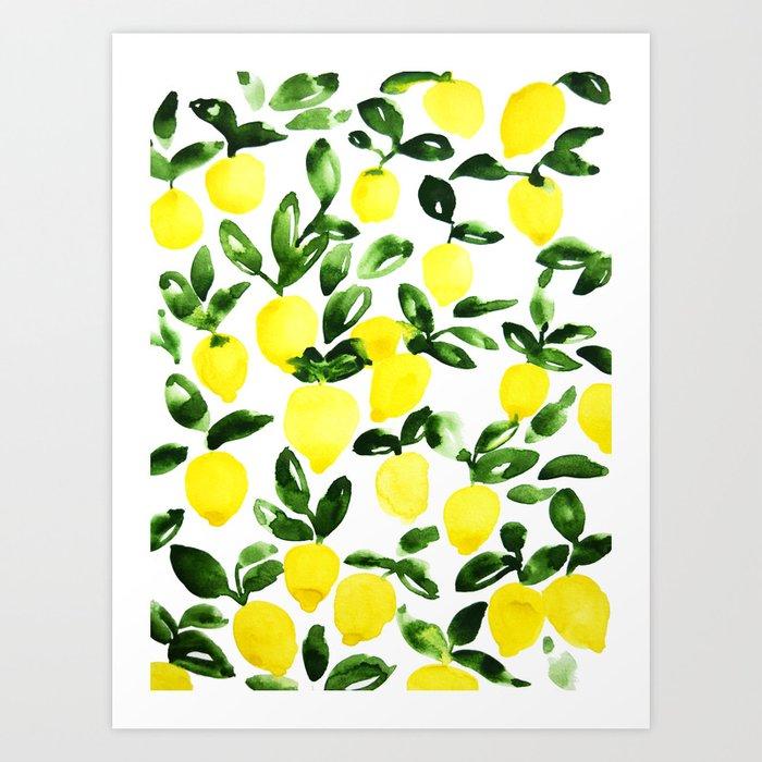 Summer Lemons Kunstdrucke