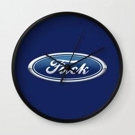 Fuck Motors Wall Clock
