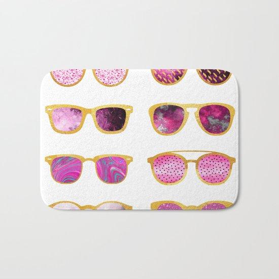 Vintage sunglasses Bath Mat