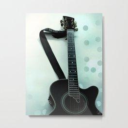 Guitar Poster Metal Print