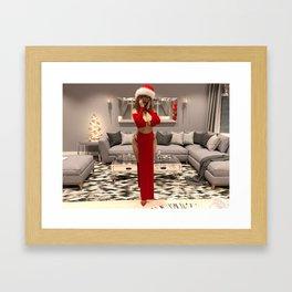 Summer in Christmas Gown Framed Art Print