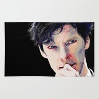 cumberbatch Area & Throw Rugs featuring Benedict Cumberbatch by Hash