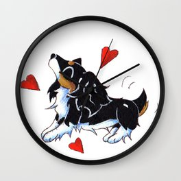 Wiggle Hearts Wall Clock