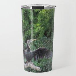 A Sunning Anhinga Travel Mug