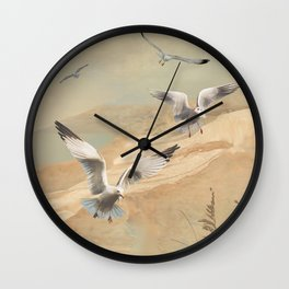 Gulf Coast Gulls Wall Clock