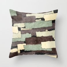 Textured Layers Abstract Throw Pillow